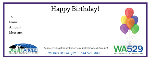 DreamAhead Purple Birthday Certificate